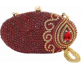 Radical Red Chic Oval Clutch